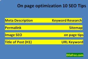 On Page SEO Kya Hai Post Optimize Karne Ke 10 Tips