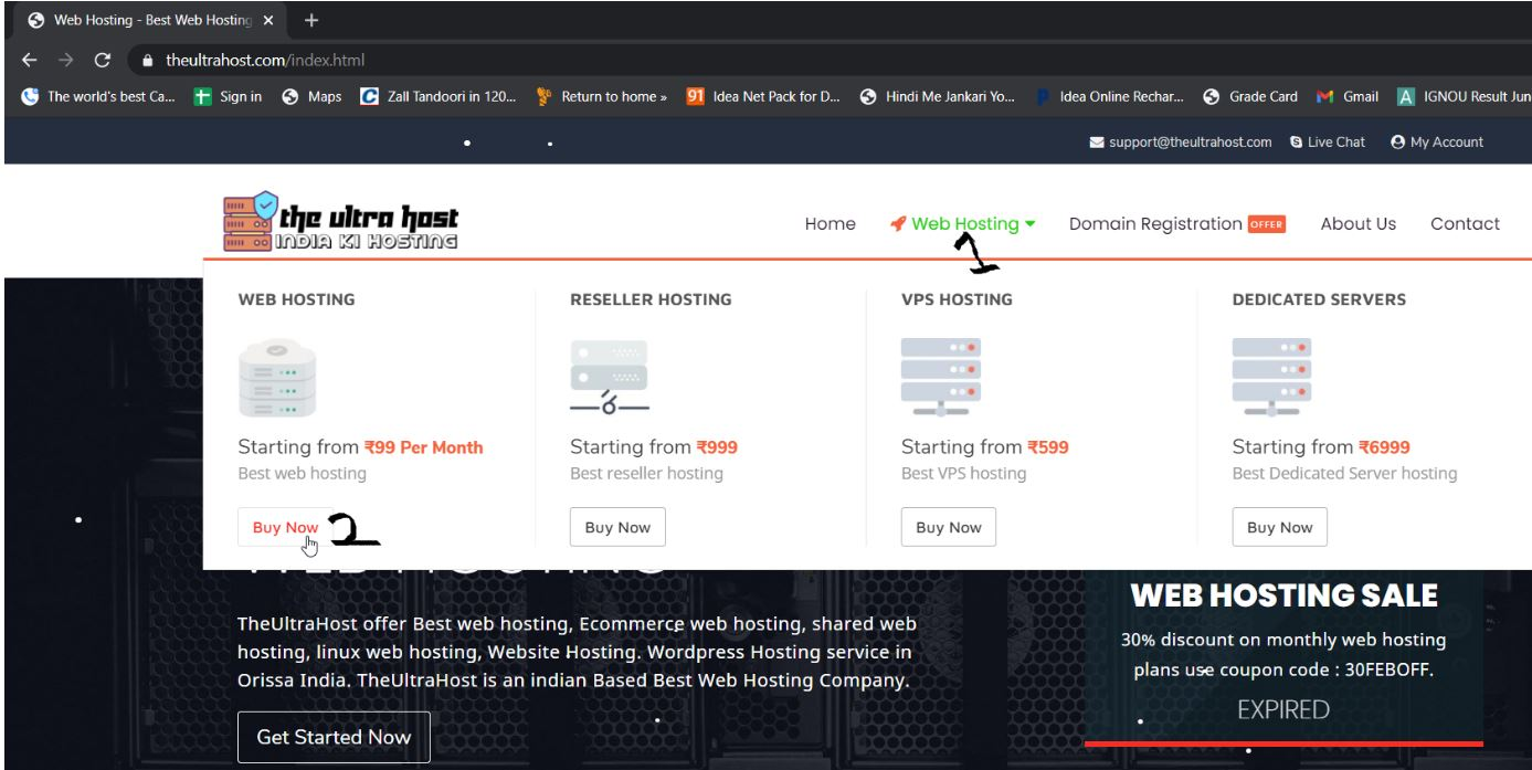 TheUltraHos click on web hosting