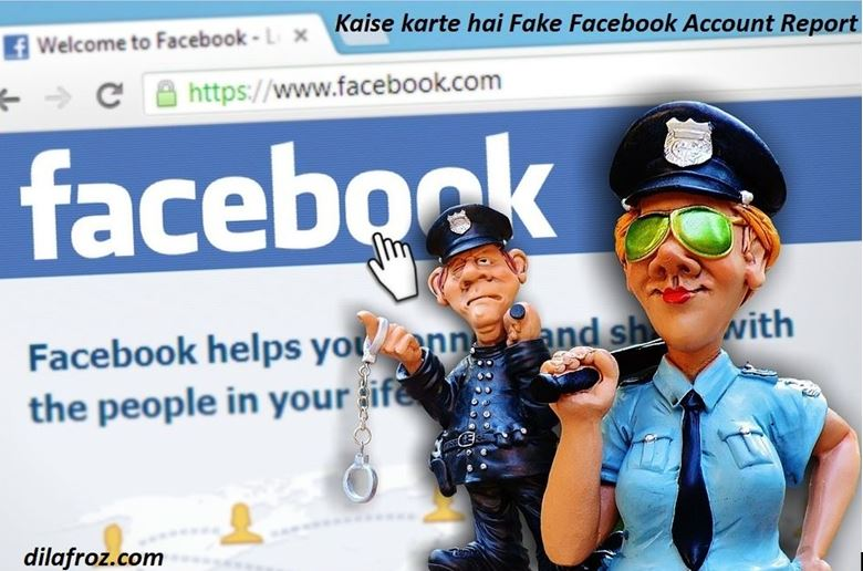 how to do fake facebook account report in hindi